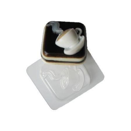 Kraftika 1db csésze forró kávé tea négyzet ital műanyag szappan