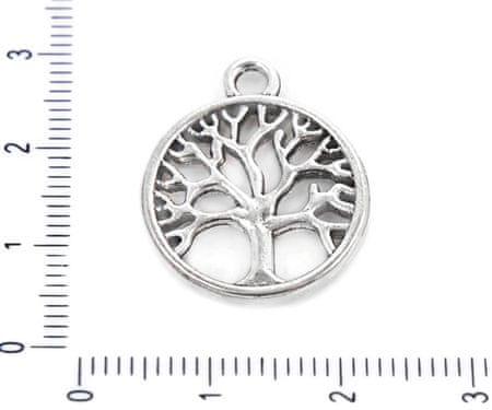 Kraftika 6 szt. antyczny srebrny ton pozłacane duże drzewo życia