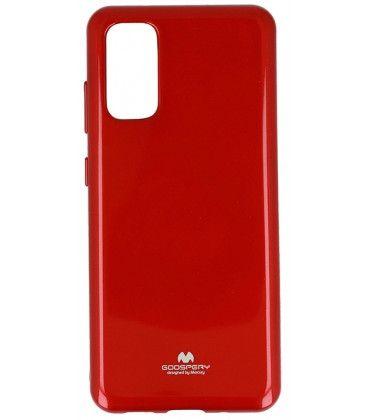 Goospery Jelly ovitek za Samsung Galaxy S20 G980, silikonski, tanek, rdeč