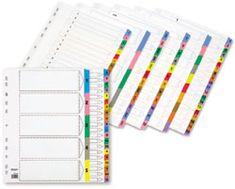 Staples register, A4, oštevilčen 1-5, bel