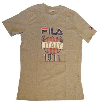 FILA Italy 1911 majica, kratek rokav, moška, siva, 52/L
