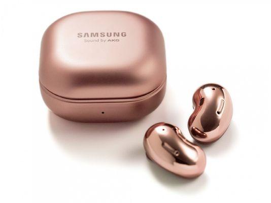 bezdrátový Bluetooth reproduktor Samsung Galaxy Buds Live dotykové ovládání mikrofon dobíjecí pouzdro