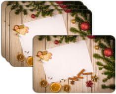 RoomDecor.eu Vianočné prestieranie-064, 4 Ks