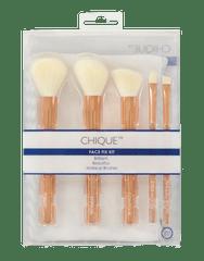 Royal & Langnickel Chique Rose Gold Face Fix Kit Sada kosmetických štětců