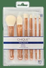Royal & Langnickel Chique Rose Gold Total Face Kit Sada kosmetických štětců