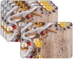 RoomDecor.eu Vianočné prestieranie-068, 4 Ks