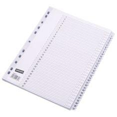 Staples register, A4, kartonski, 1-31, bel