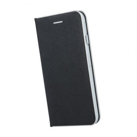 Havana Premium maska za Samsung Galaxy A51 A515, preklopna, crna sa srebrnim rubom