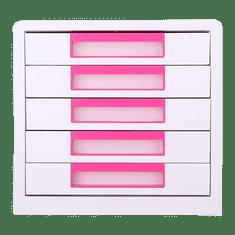 Deli stationery Box zásuvkový Rio 5 zásuvek růžový