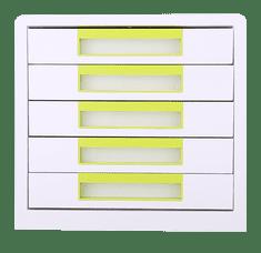 Deli stationery Box zásuvkový Rio 5 zásuvek zelený