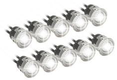 Compass LED světla pro denní svícení kulatá 5+5 HIGH POWER LED 12V/24V