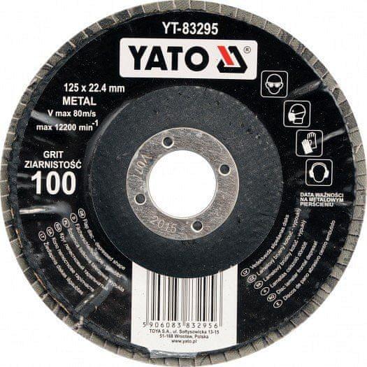YATO Kotouč lamelový 125mm P120 YT-83296 YATO