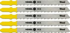 Vorel Sada plátků do přímočaré pily 75mm na dřevo PVC překližky 5ks TO-27810 VOREL