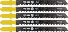 Vorel Sada plátků do přímočaré pily 75mm na dřevo PVC překližky 5ks TO-27812 VOREL