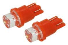 Compass Autožárovka 12V W2,1x9,2d LED červená 2ks