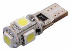 Compass Autožárovka 12V W2,1x9,2d 5LED SMD s rezistorem bílá