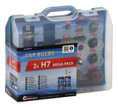 Compass Autožárovky servisní box MEGA 12V H7 + H7 + pojistky