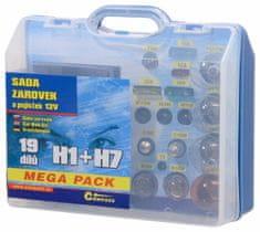 Compass Autožárovky servisní box MEGA 12V H1 + H7 + pojistky