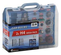 Compass Autožárovky servisní box MEGA 12V H4 + H4 + pojistky