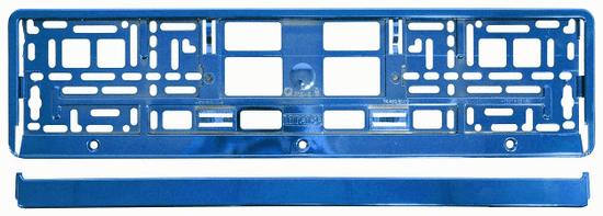 Compass Podložka pod SPZ metallic BLUE