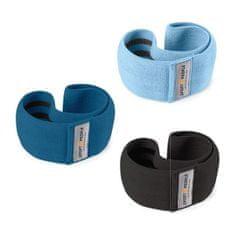 Sport2People Posilňovacie pásy - látkové sada 3 kusov Barva: Modrá