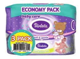 Violeta Sensitive Care robčki, z mandljevim mlekom, vlažilni, 3 x 56/1