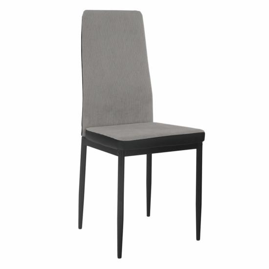 TEMPO KONDELA Jedálenská stolička, svetlosivá/čierna, ENRA