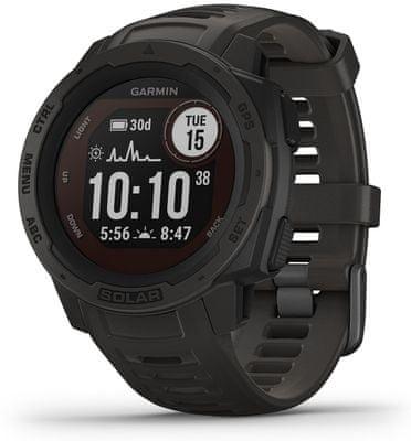 Inteligentné hodinky Garmin Instinct Solar, rozhranie ANT+, externé snímače, meranie plávania, multisport