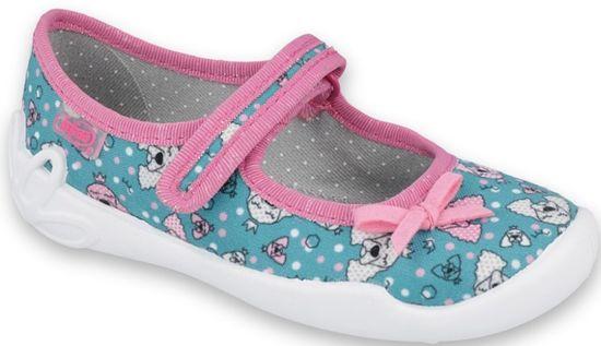 Befado dievčenské papučky Blanca 114X415 25, modrá
