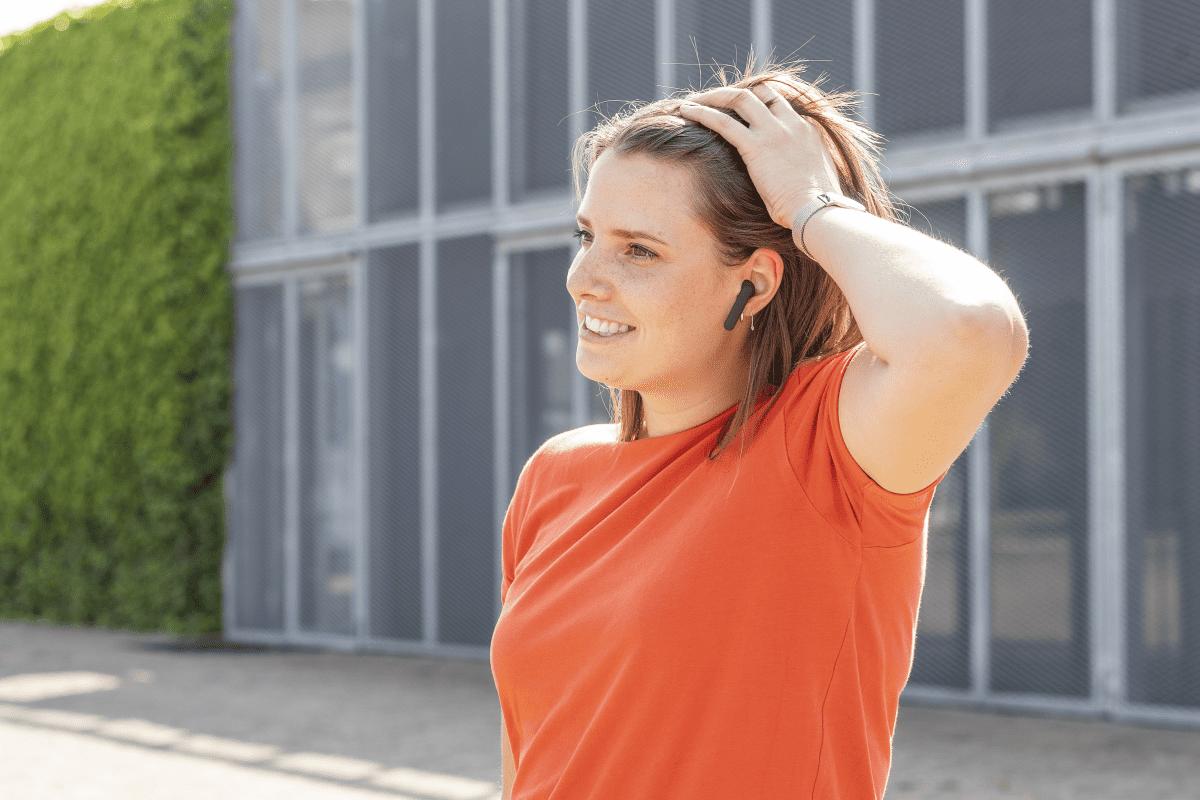 bezdrátová bezdrátová sluchátka do uší Trust Primo Touch BT vestavěný mikrofon