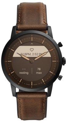 Hybridní chytré hodinky Fossil FTW7008, elegantní design, kůže, kožený řemínek, designové, ručičkový ciferník