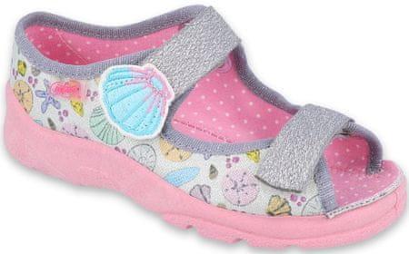 Befado 969X154 Max sandale za djevojčice, srebrne, 25