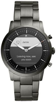 Hybridní chytré hodinky Fossil FTW7009, elegantní design, nerezová ocel, ocelový řemínek, designové, ručičkový ciferník