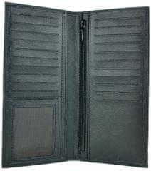 VegaLM RFID UNISEX Ochranná kožená peňaženka v čiernej farbe
