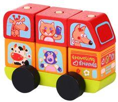 CUBIKA zabawka 13197 Minibus wesołe zwierzaki