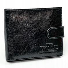 Always Wild Pánská kožená peněženka se zapínáním Josef, černá