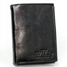 Always Wild Pánská klasická peněženka z kůže Pharell, černá