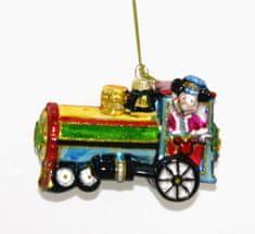DUE ESSE božična okrasna lokomotiva, 16 cm