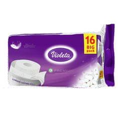 Violeta Premium toaletni papir, bombažni, 3-slojni, 16/1