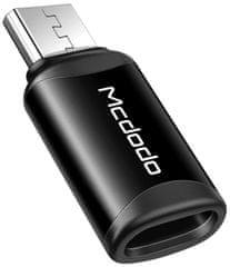 Mcdodo Lightning to Micro USB Connector OT-7710, černý