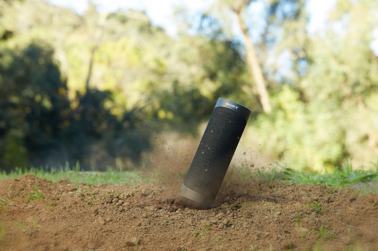 Brezžični bluetooth zvočnik Sony SRS-XB23 nepremočljiv proti prahu outdoor