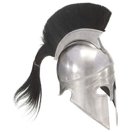 shumee ezüstszínű antik görög harcos acélsisak LARP másolat
