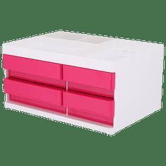 Deli stationery Stolní organizér se zásuvkami Rio růžový