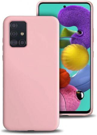Ovitek za Samsung Galaxy A71, silikonski, mat roza