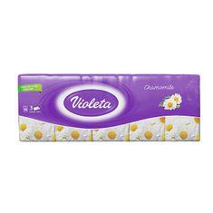 Violeta robčki Kamilica, 3-slojni, 10 x 10/1