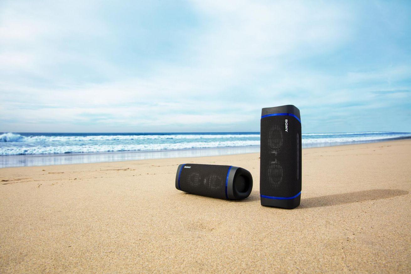Brezžični bluetooth zvočnik Sony SRS-XB33 dolga življenjska doba baterije 24-urna povezava funkcijo združevanja več zvočnikov svetlobnih učinkov
