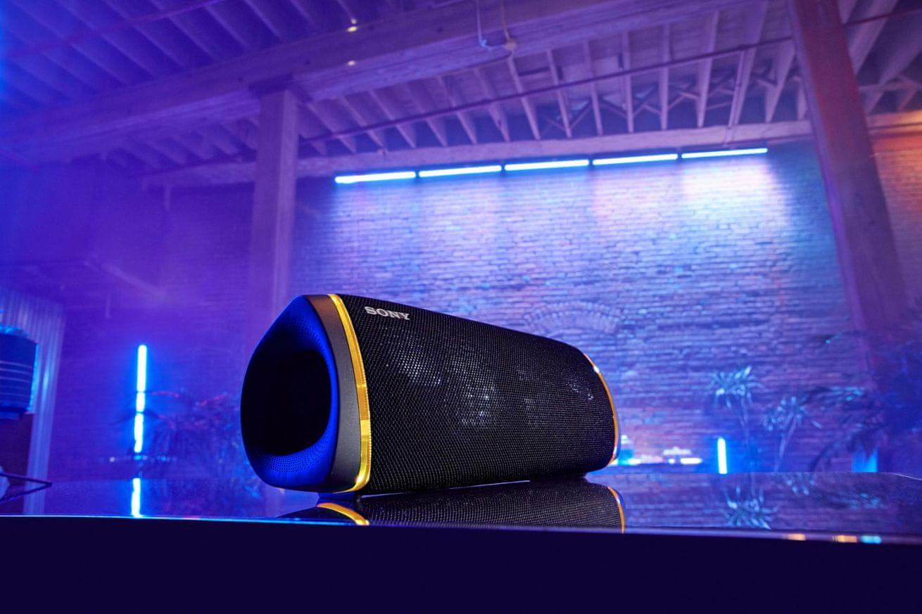 brezžični brezžični zvočnik bluetooth Sony SRS-XB43 x-uravnotežena zvočna enota zmanjšuje izkrivljanje zvoka čist zvok