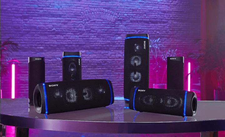 Brezžični bluetooth zvočnik Sony SRS-XB43 dolga življenjska doba baterije 24-urna povezava funkcija povezovanja več zvočnikov svetlobni učinki powerbank