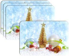 RoomDecor.eu Vianočné prestieranie-079, 4 Ks