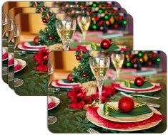 RoomDecor.eu Vianočné prestieranie-090, 4 Ks